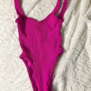 Oscar de la Renta Swimsuit Size Small Hot Pink